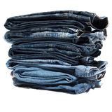 Folded jean clothes Royalty Free Stock Photo