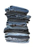 Folded jeans Royalty Free Stock Images