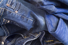 Folded jeans Stock Photos