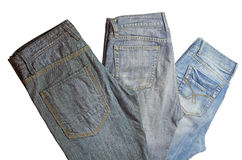 Folded jeans Royalty Free Stock Photography