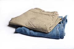 Folded Jeans Stock Images