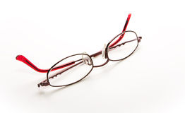 Folded ladies glasses Royalty Free Stock Images
