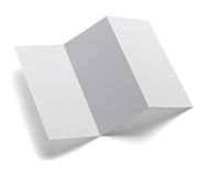 Folded leaflet white blank paper template book Royalty Free Stock Photography