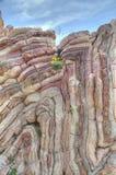 Folded limestone stock image
