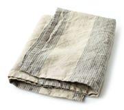 Folded linen napkin Royalty Free Stock Image