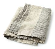 Folded linen napkin Royalty Free Stock Image