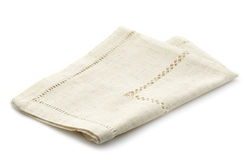 Folded linen napkin Royalty Free Stock Photos