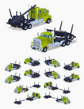 Folded log truck Stock Images
