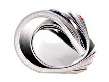 Folded magazine Royalty Free Stock Image