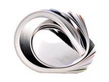 Folded magazine Royalty Free Stock Image