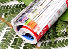 Folded magazine Royalty Free Stock Photo