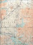 1903 Folded Map Royalty Free Stock Photography