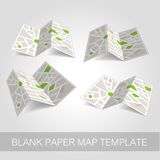 Folded map template  illustration. Available in high-resolution and several sizes to fit the needs of your project Stock Images
