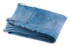 Folded men's jeans Royalty Free Stock Image