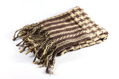 Folded mens scarf Royalty Free Stock Photography