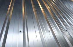 Folded metal zinc sheet Stock Photo
