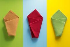 Folded napkin at abstract background Stock Photo
