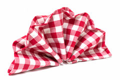 Folded napkin Stock Photography