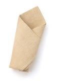 Folded napkin isolated on white Royalty Free Stock Photo