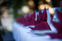 folded napkin Stock Images