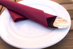 Folded Napkin Stock Image