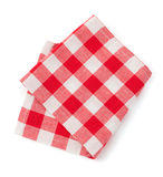Folded napkin on white background Stock Photos