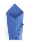 Folded napkin  on white Royalty Free Stock Photo