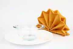 Folded napkins Stock Photos