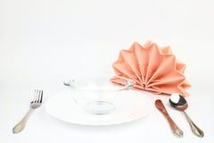 Folded napkins Royalty Free Stock Image