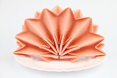 Folded napkins Stock Photo