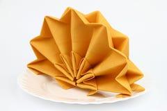 Folded napkins Stock Images