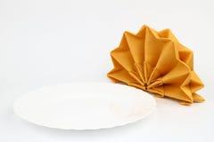 Folded napkins Royalty Free Stock Photos