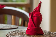 Folded napkins outdoors Royalty Free Stock Photo