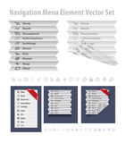 Folded navigation menu Stock Image