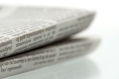Folded newspaper 1 Royalty Free Stock Photography