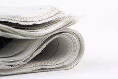 Folded Newspaper Stock Photos