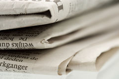 Folded newspaper 2 Royalty Free Stock Photos