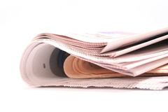 Folded Newspaper Stock Photo