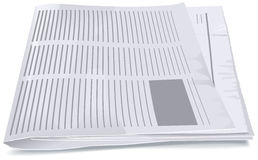 Folded newspaper tabloid Royalty Free Stock Photo