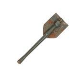 Folded old military shovel Royalty Free Stock Photos