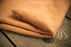 Folded Orange Cotton Fabric Royalty Free Stock Photo