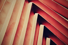 Folded origami shapes. Folded paper shaped forms in pink colour Royalty Free Stock Photo