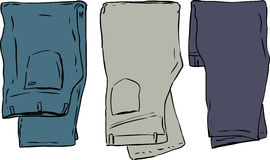 Folded Over Pants Royalty Free Stock Image