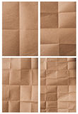 Folded packing paper. Collection of various folded packing paper on white background. each one is shot separately stock images