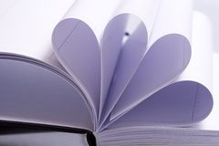 Folded pages of an agenda Royalty Free Stock Photography