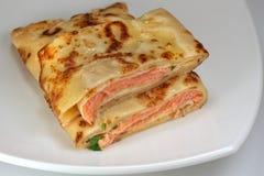 Folded pancake Royalty Free Stock Image