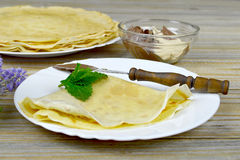 Folded pancake Stock Photos