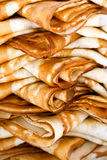 Folded pancakes Stock Photography