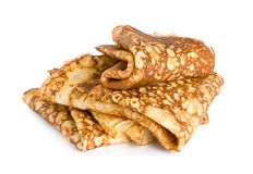 Folded pancakes Stock Image