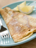 Folded Pancakes with Lemon and Sugar Royalty Free Stock Image